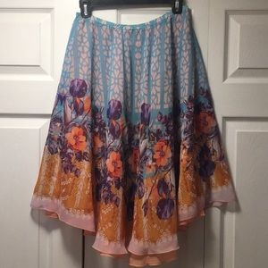 Anthropologie - Dream Daily Flowy Floral Skirt